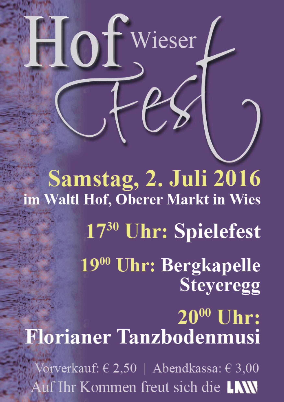 Einladung zum Hoffest am 2. Juli