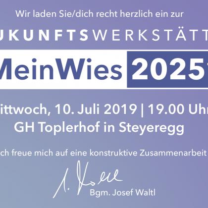 Zukunftswerkstätte – MEIN WIES 2025+