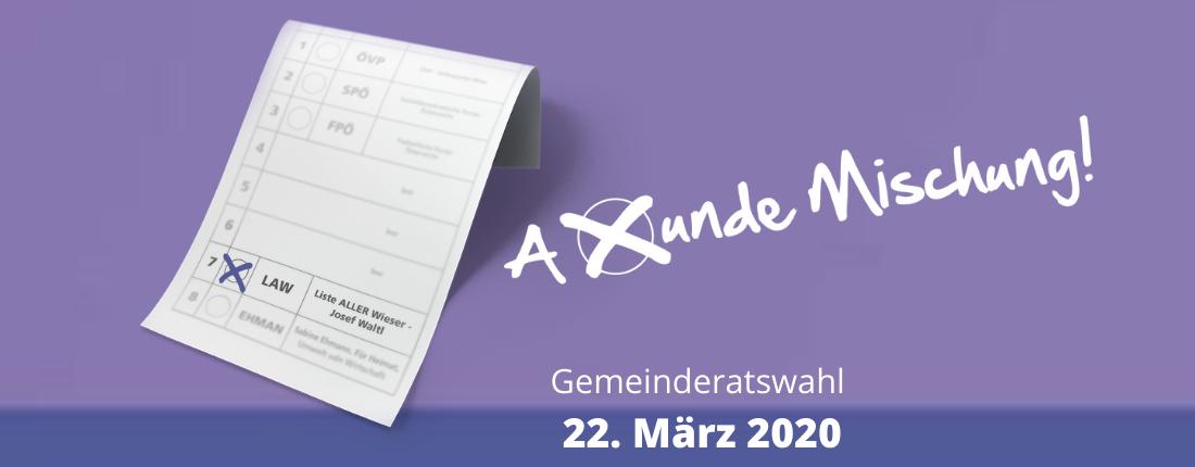 22. März 2020 - Gemeinderatswahl